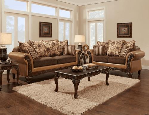 2PC Avanti Bronze Sofa and Loveseat Set - 6250AB