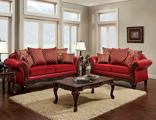 2PC Cleopatra Sofa and Loveseat Set