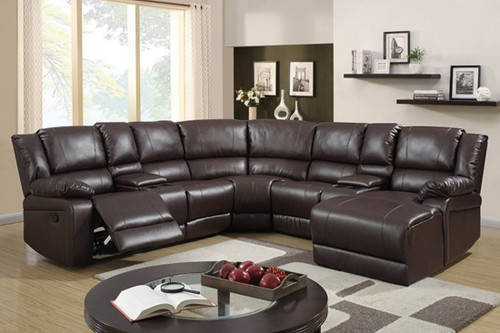 5PC Sorrento Sectional (CHOCOLATE)