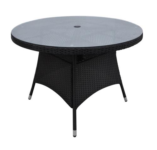 DARK BROWN OUTDOOR ROUND TABLE