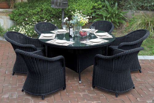 7PCS COTTAGE STYLE OUTDOOR PATIO TABLE SET