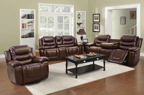 3PC BENJAMIN RECLINER SET WITH CUP HOLDER