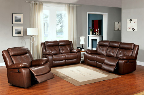 Isabella 3 PC Sofa Loveseat And Recliner Set - GS830