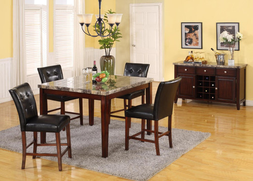 MARCO COUNTER HEIGHT TABLE BAR STOOL 5 PC Set