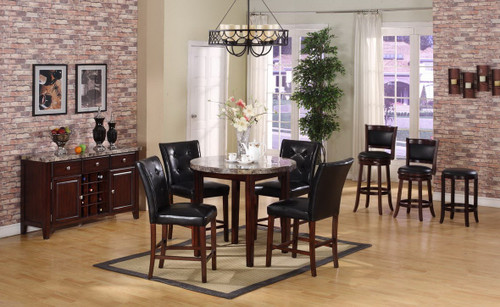DIEGO COUNTER HEIGHT TABLE BAR STOOL 5 PC Set
