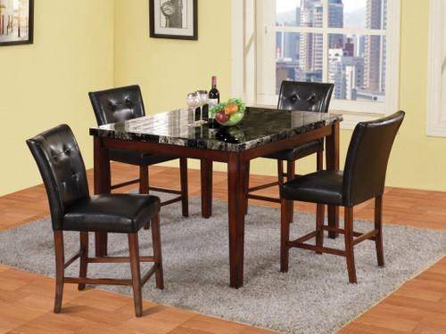LUCA BAR TABLE(REAL MARBLE) BAR STOOL 5 PC Set