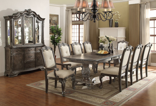 KIERA DINING TABLE TOP 5 Piece Set (Grey) - 2151-GY