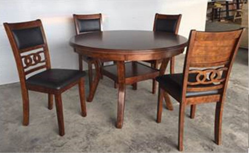 CALLY ROUND DINING TABLE TOP5 PC Set - 2216