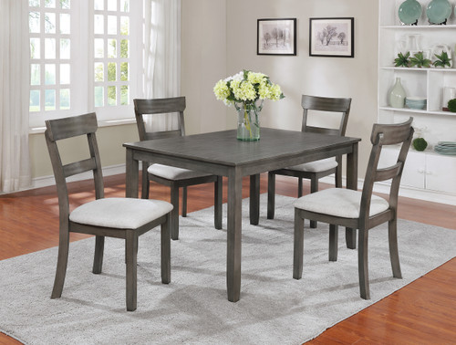 PK HENDERSON DINING TABLE TOP 5 PC Set - Grey - 2254SET-GY