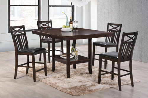 Meghan Counter Height Table Top 5 PC Set