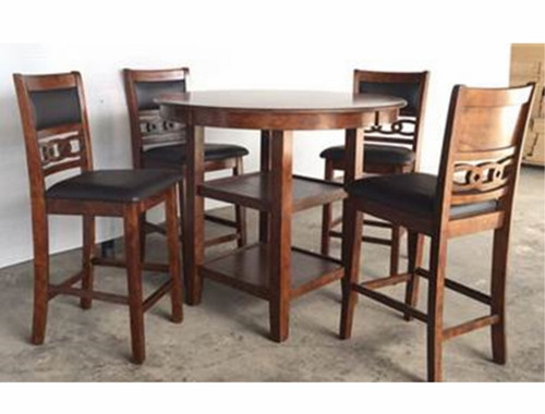 Cally Round Counter Height Table Top 5 PC Set