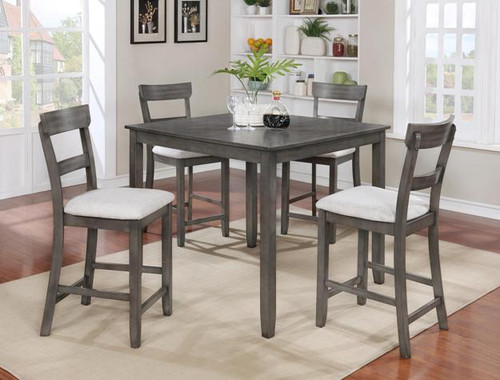 Henderson Counter Height Table Top 5 PC Set - Grey