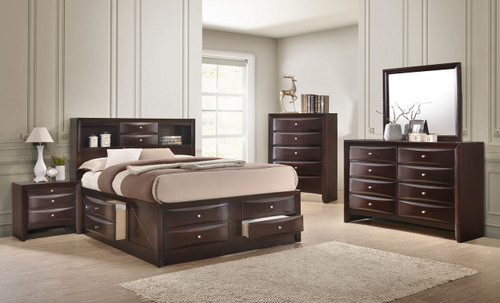 EMILY BEDROOM SET DARK CHERRY
