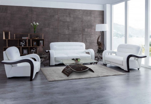 SOFA LOVESEAT SET IN WHITE LEATHER