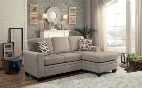 SYNNOVE COLLECTION LIGHT BROWN REVERSIBLE SECTIONAL
