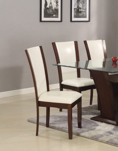 CAMELIA SIDE CHAIR WHITE 2 PCS SET
