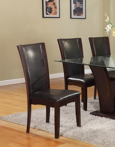 CAMELIA SIDE CHAIR ESPRESSO 2 PCS SET