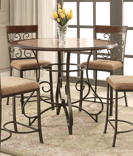SARAH ROUND COUNTER HEIGHT TABLE