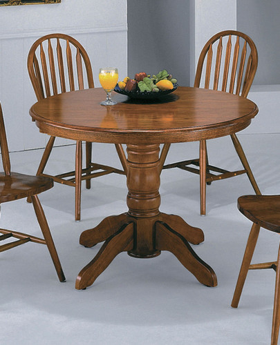 DARK OAK PEDESTAL TABLE