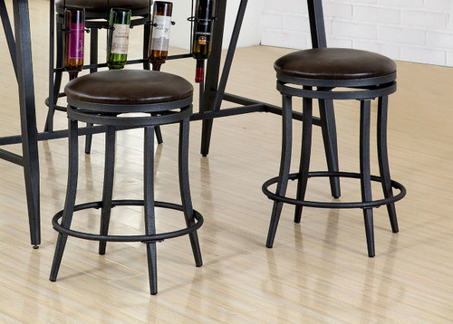 DAVID COUNTER HEIGHT SWIVEL STOOL 2 PCS SET