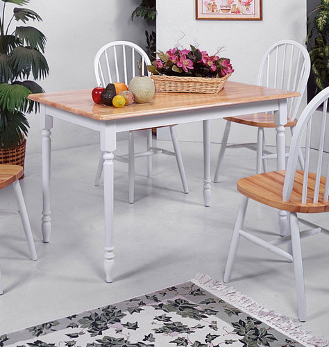 WINDSOR SOLID TOP TABLE-2302/WH/NAT