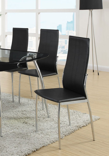 MODERN STYLE DINING CHAIR BLACK 2 PCS SET