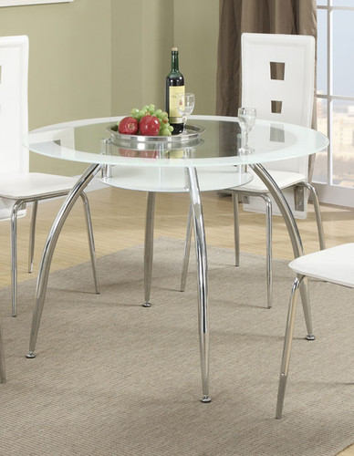 CONTEMPORARY STYLE DINING TABLE WHITE