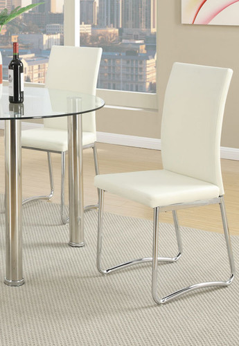 WHITE MODERN DINING CHAIR 2 PCS SET