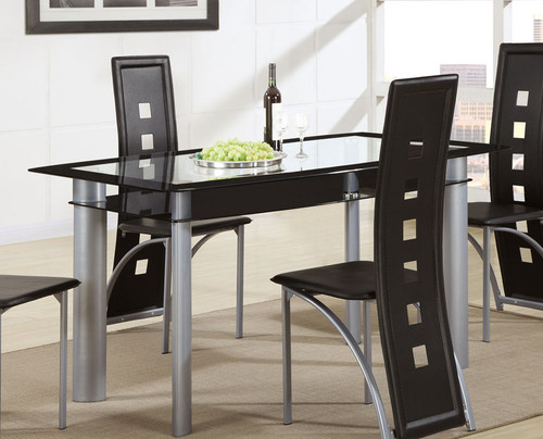 RECTANGULAR TEMPERED GLASS DINING TABLE