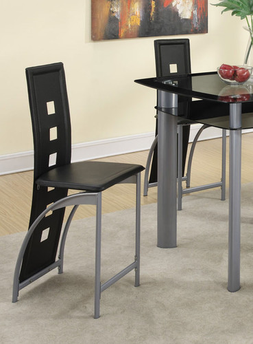 LEATHERETTE COUNTER HEIGHT CHAIR 2 PCS SET