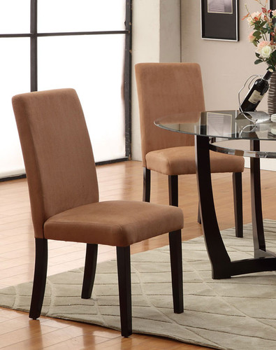 ESPRESSO SADDLE DINING CHAIR 2 PCS SET