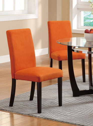 2PC SET DINING CHAIR IN ORANGE