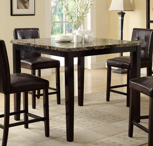 DARK BROWN COUNTER HEIGHT TABLE-F2339
