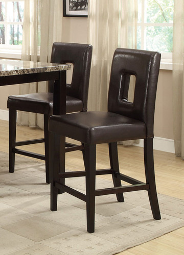 BROWN COUNTER HEIGHT CHAIR 2 PCS SET