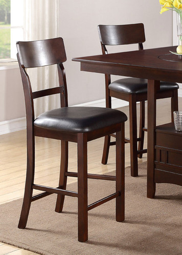 ROSY BROWN COUNTER HEIGHT CHAIR 2 PCS SET