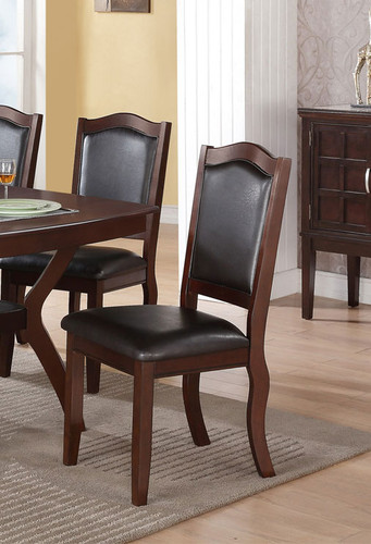 IMPERIAL DESIGN BROWN DINING CHAIR 2 PCS SET