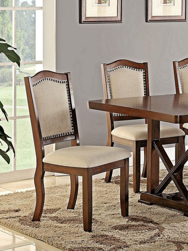 SOLID WOOD DINING CHAIR 2 PCS SET