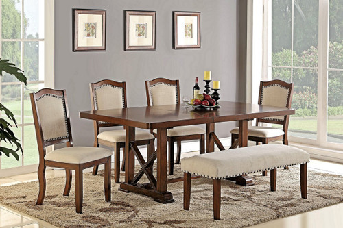 SOLID WOOD DINING CHAIR 2 PCS SETF-1569