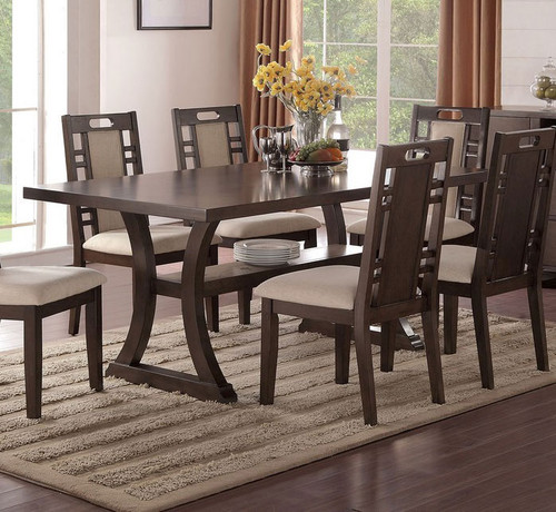 CURVED LEG SUPPORTS DINING TABLE