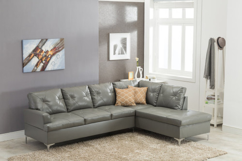 VINTAGE MODERN SECTIONAL IN GRAY