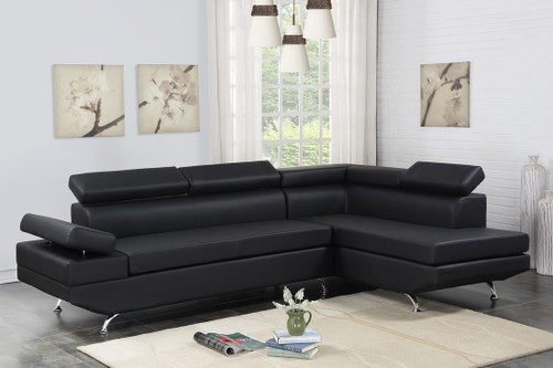 CONTEMPO SECTIONAL IN BLACK