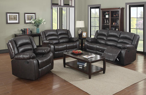 DYNAMO BROWN ROCKER SOFA AND LOVESEAT 3PCS SET-Dynamo-Brown