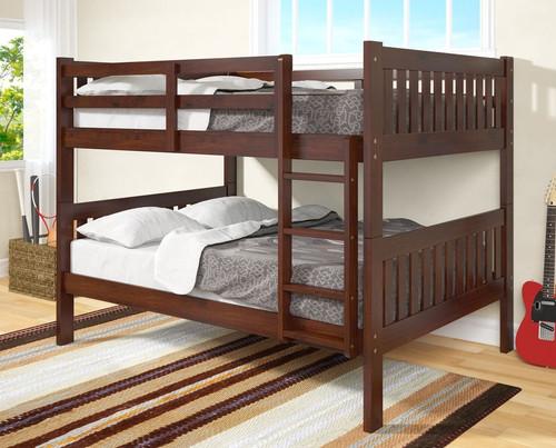 ESPRESSO FULL OVER FULL BUNK BED-1015