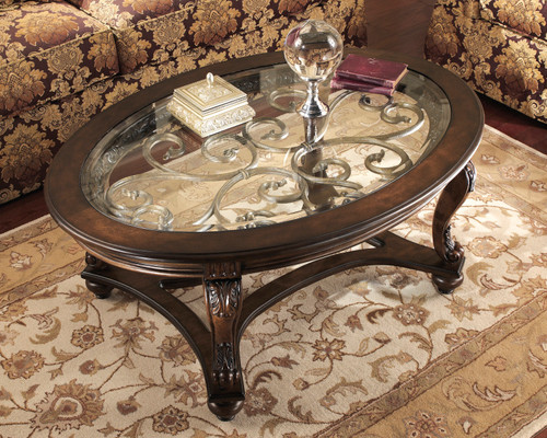 GABRIELE GLASS TOP COFFEE TABLE