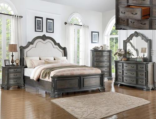 SHEFFIELD ANTIQUE GREY BEDROOM-B1120