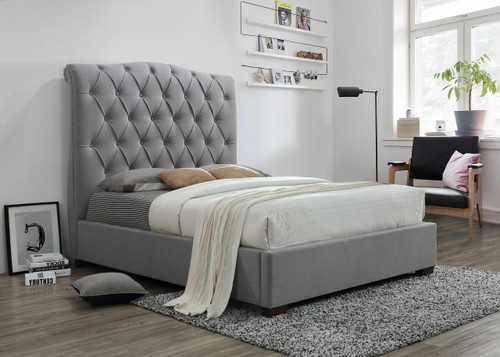 JANICE BED GREY-5101