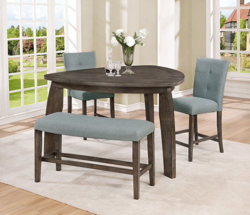 HOLLIS TRIANGLE COUNTER HEIGHT TABLE 4 PCS SET