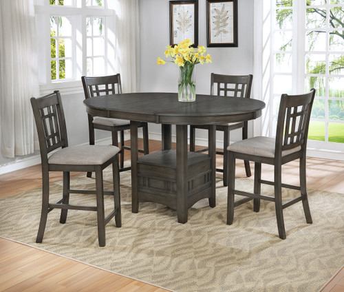 HARTWELL GREY COUNTER HEIGHT TABLE 5 PCS SET