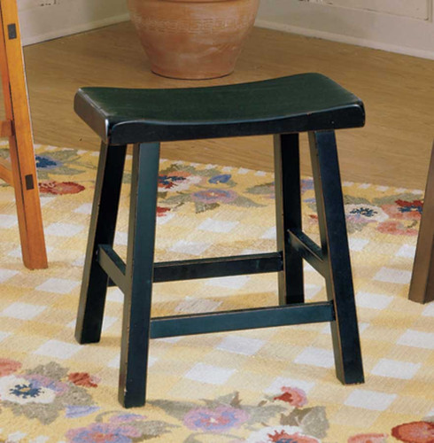 "SADDLEBACK 24""H STOOL BLACK"