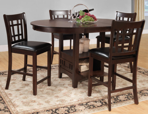 JUNIPERO ROUND COUNTER HEIGHT TABLE 5 PCS SET